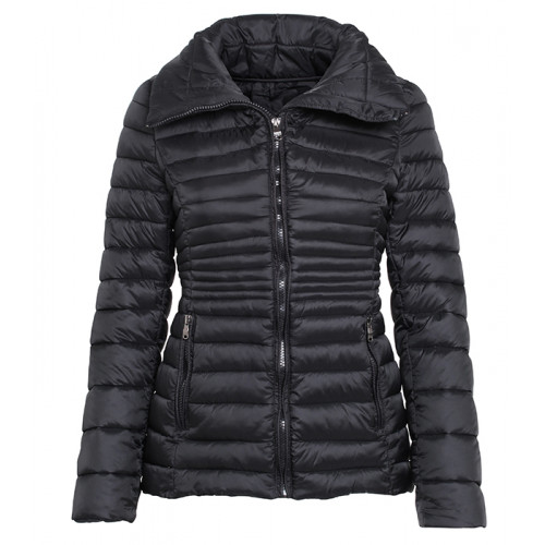2786 Women's contour quilted jacket Black