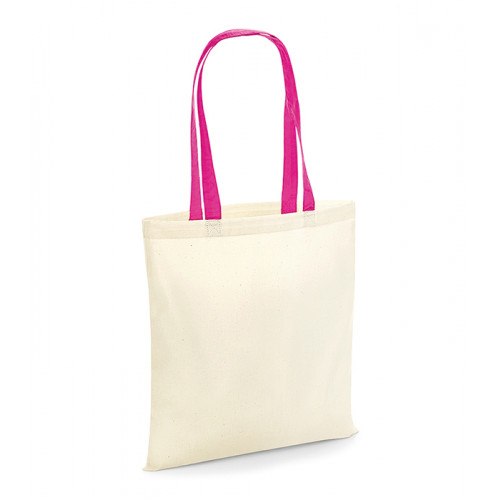 Westford Mill Bag For Life Contrast Handles Natural/Fuchsia