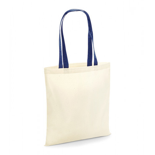 Westford Mill Bag For Life Contrast Handles Natural/French Navy