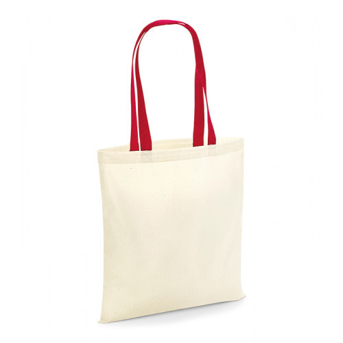 Westford Mill Bag For Life Contrast Handles Natural/Classic Red