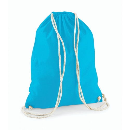 Westford Mill Cotton Gymsack Surf Blue