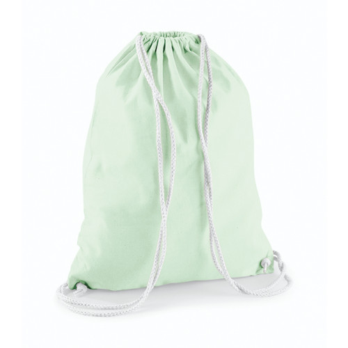 Westford Mill Cotton Gymsack Pastel Mint/White