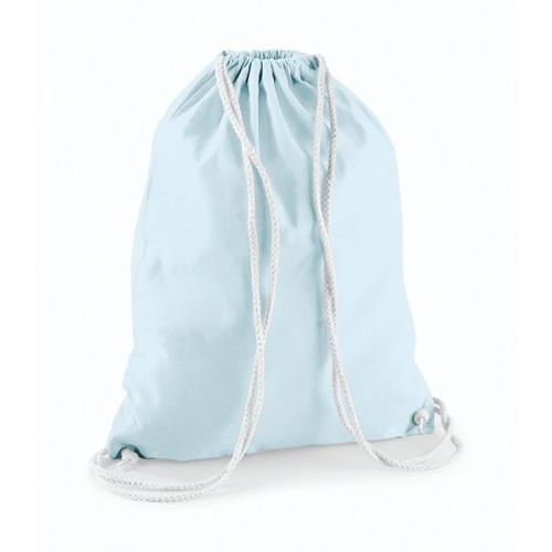 Westford Mill Cotton Gymsack Pastel Blue/White