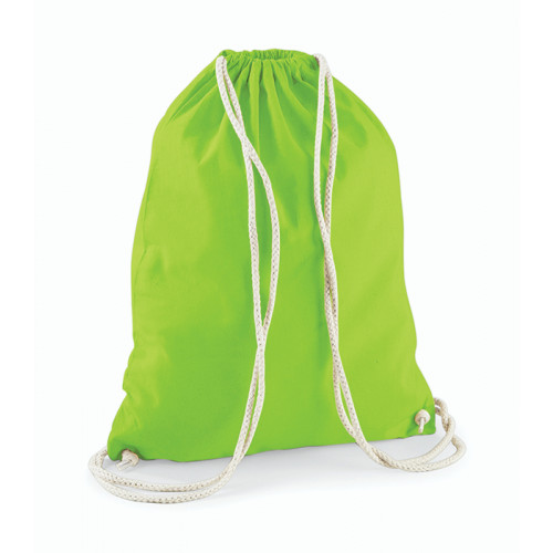 Westford Mill Cotton Gymsack Lime Green