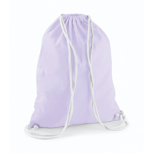 Westford Mill Cotton Gymsack Lavender/White
