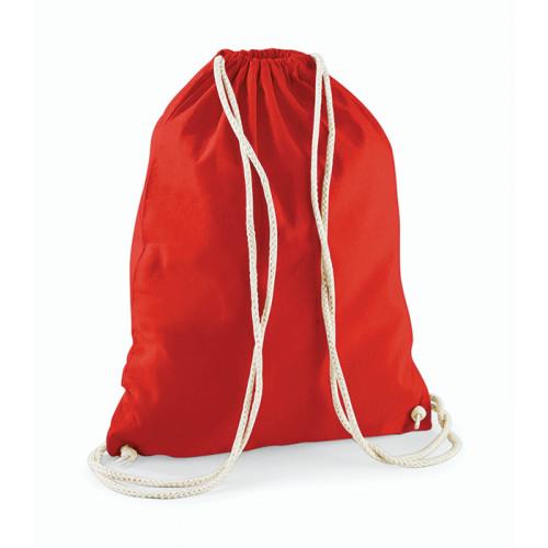 Westford Mill Cotton Gymsack Bright Red