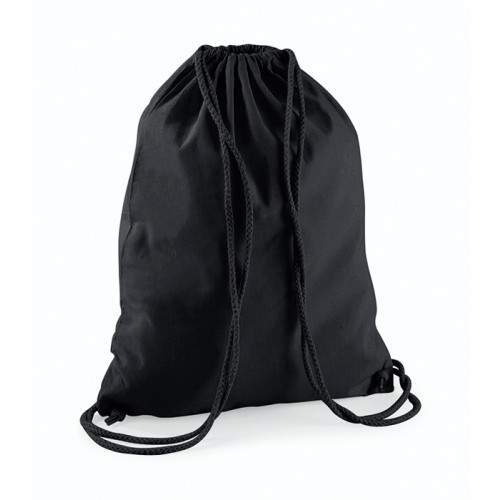 Westford Mill Cotton Gymsack Black/Black