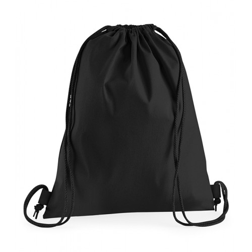 Westford Mill Premium Cotton Gymsac Black