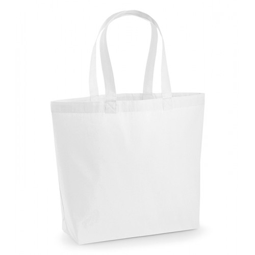 Westford Mill Premium Cotton Maxi Tote White