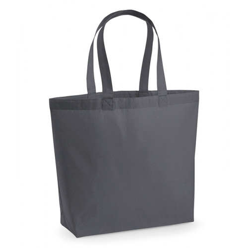 Westford Mill Premium Cotton Maxi Tote Graphite Grey