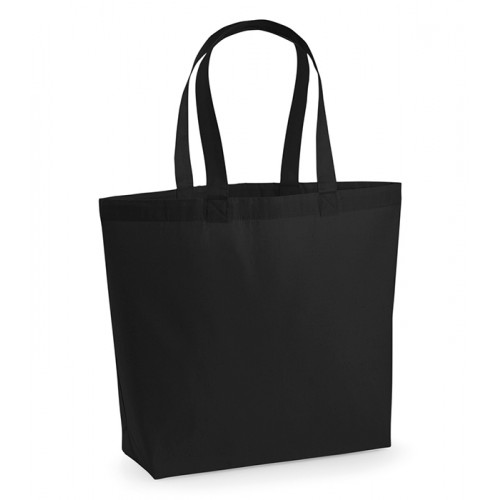 Westford Mill Premium Cotton Maxi Tote Black
