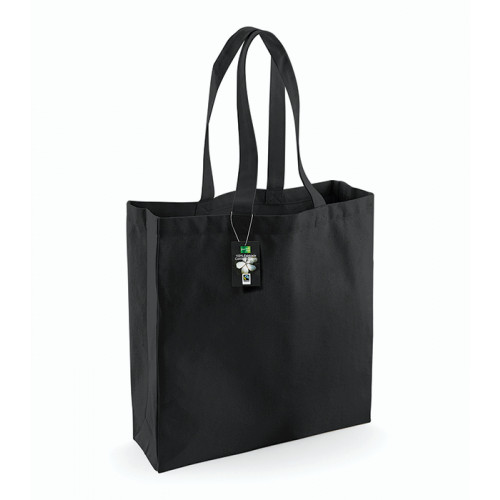 Westford Mill Fairtrade Cotton Classic Shopper Black