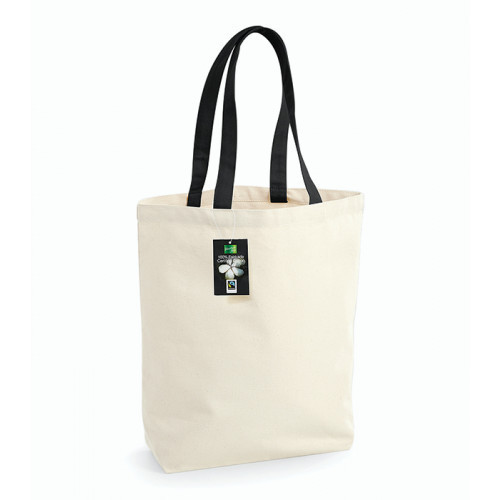 Westford Mill Fairtrade Camden Shopper Natural/Black