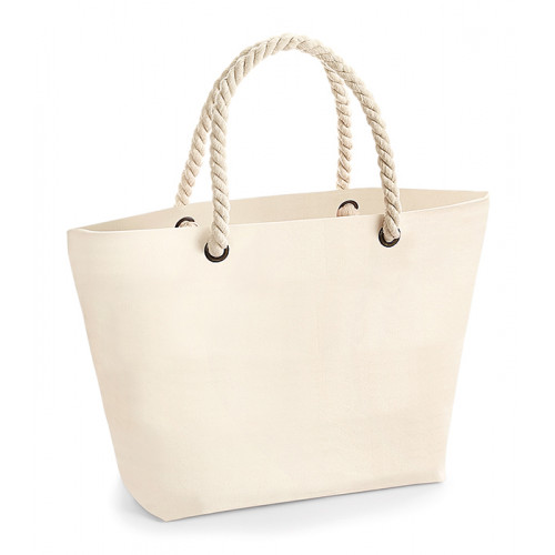 Westford Mill Nautical Beach Bag Natural