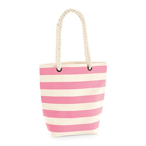 Westford Mill Nautical Tote Natural/Pink