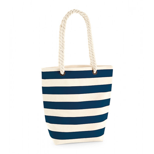 Westford Mill Nautical Tote Natural/Navy