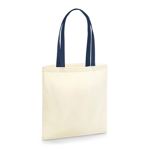 Westford Mill EarthAware Organic Bag for Life - Contrast Handle Natural/French Navy