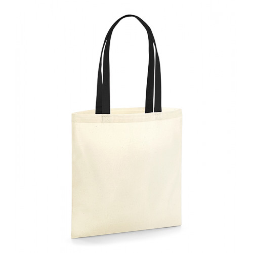Westford Mill EarthAware Organic Bag for Life - Contrast Handle Natural/Black