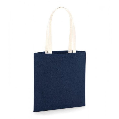Westford Mill EarthAware Organic Bag for Life - Contrast Handle French Navy/Natural