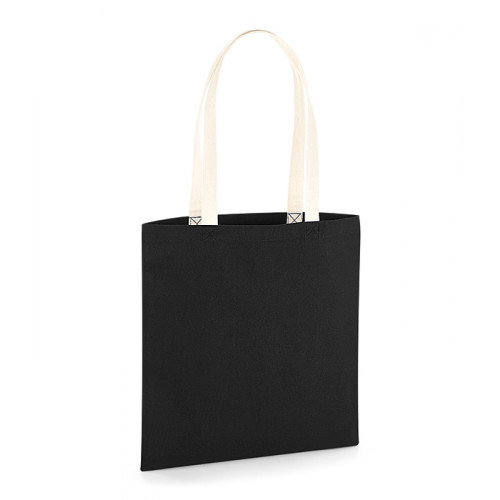 Westford Mill EarthAware TM Organic Bag for Life - Contrast Handles Black/Natural