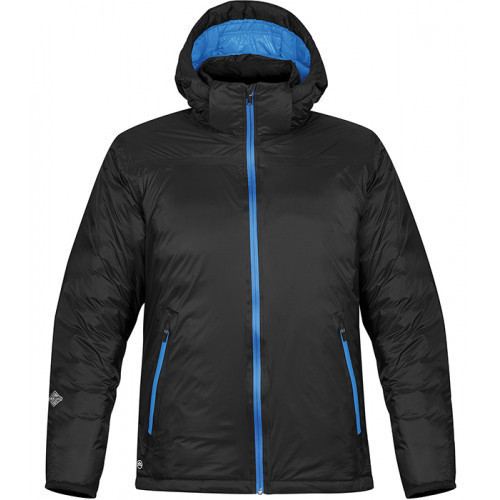 Stormtech Men's Black Ice Thermal Jacket Black/Electric Blue