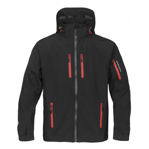 Stormtech Expedition Soft Shell Black/Flame Red