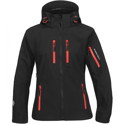 Stormtech W`s Expedition Soft Shell Black/Flame Red