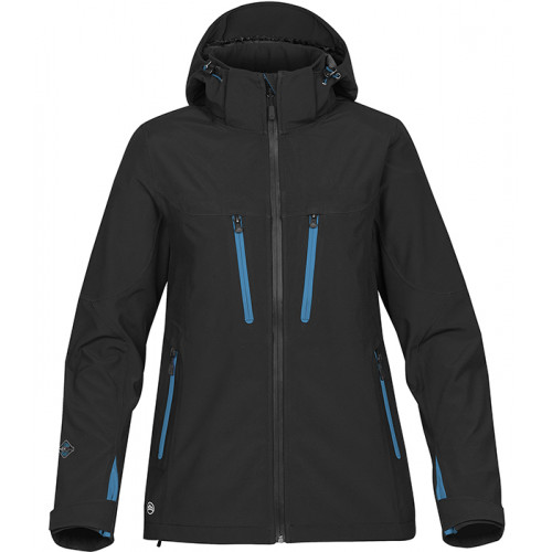Stormtech Women's Patrol Shell Black/Azure Blue