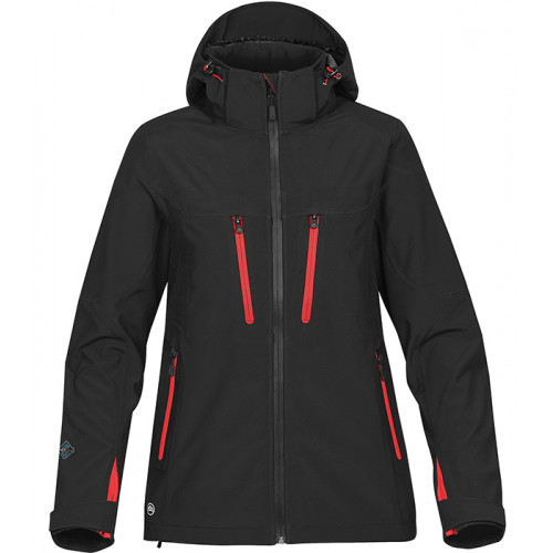 Stormtech Women's Patrol Shell Black/Bright Red