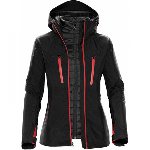 Stormtech Women´s Matrix Softshell 3 in 1 Black/Bright Red