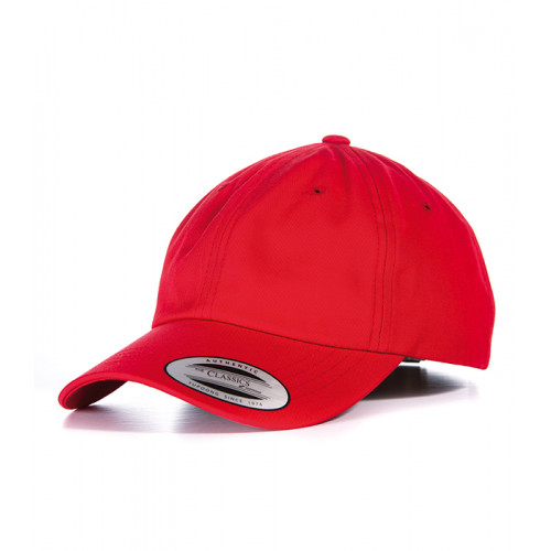 Flexfit Dad Hat Baseball Strap Back Red