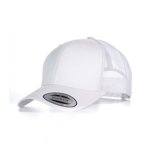 Flexfit Retro Trucker Cap White/White