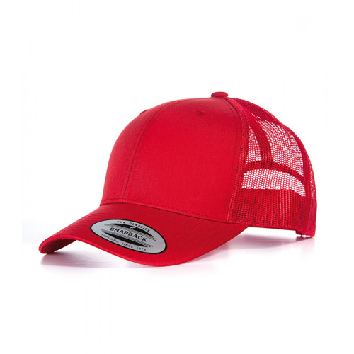 Flexfit Retro Trucker Cap Red/Red