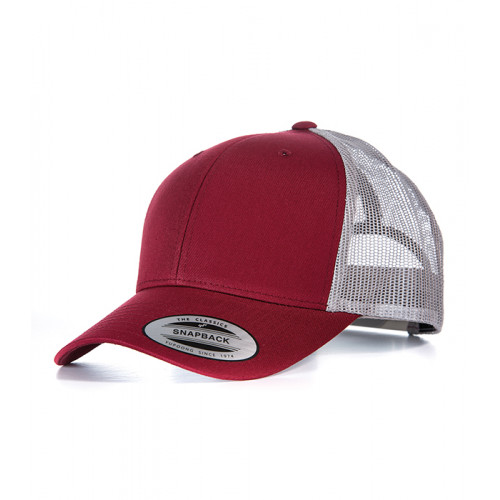 Flexfit Retro Trucker Cap Burgundy/Light Grey