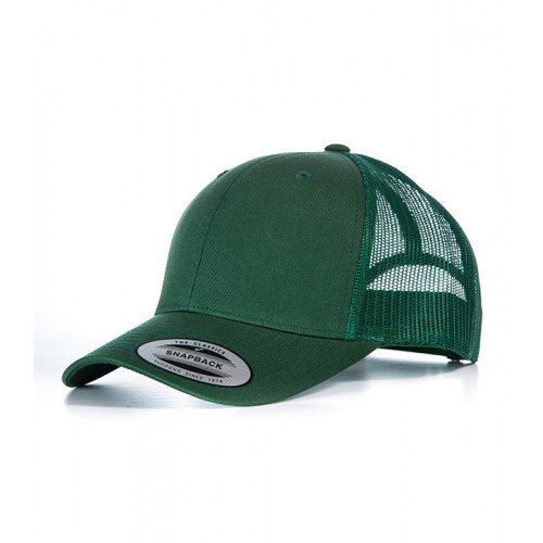 Flexfit Retro Trucker Cap Bottle Green/Bottle Green