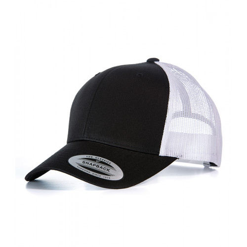 Flexfit Retro Trucker Cap Black/White