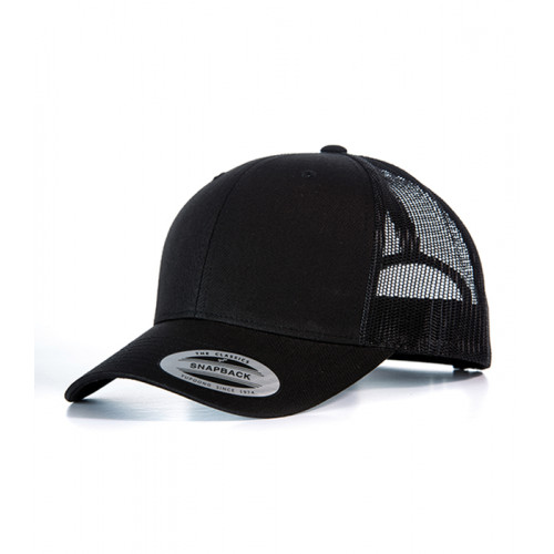 Flexfit Retro Trucker Cap Black/Black