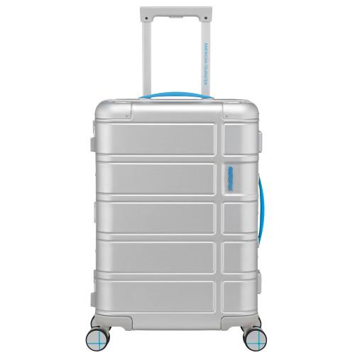 American Tourister Alumo Spinner 55 Neon Blue