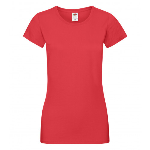 Fruit of the loom Ladies Sofspun T Red