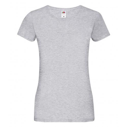 Fruit of the loom Ladies Sofspun T Heather Grey