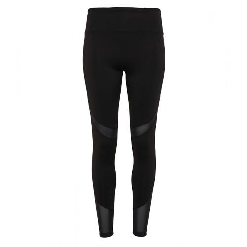Tri Dri Women's TriDri® Mesh Tech Panel Leggings Full Length Black