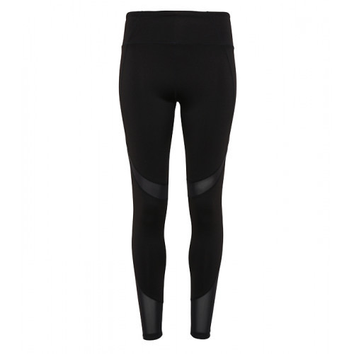 Tri Dri Women's TriDri® Mesh Tech Panel Leggings Full Length Black