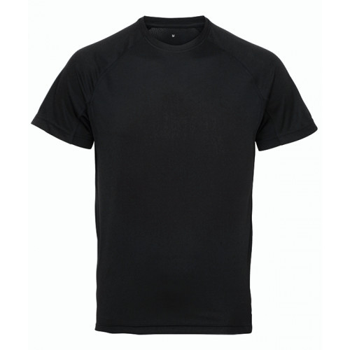 Tri Dri Panelled TriDri® tech tee Black