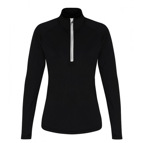 Tri Dri Womens TriDri® Performance 1/4 Zip Black/White