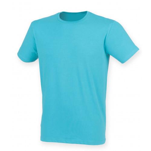 Skinnifit Men Feel Good Stretch T-Shirt SurfBlue
