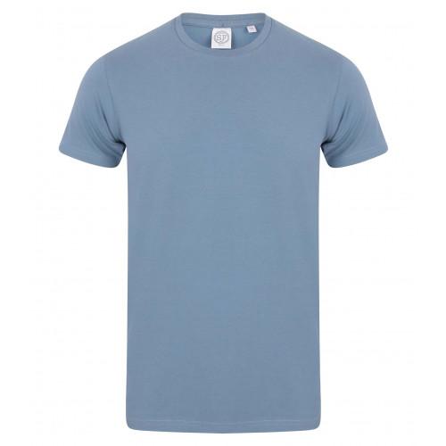 Skinnifit Men Feel Good Stretch T-Shirt StoneBlue