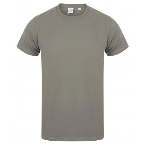 Skinnifit Men Feel Good Stretch T-Shirt Khaki