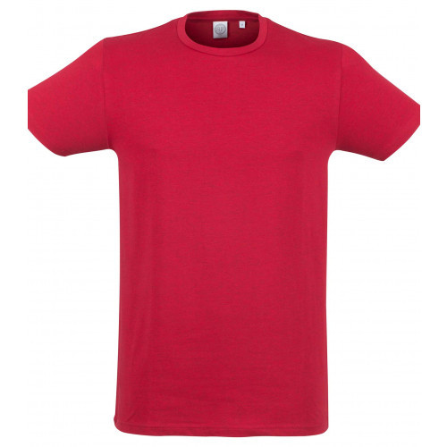 Skinnifit Men Feel Good Stretch T-Shirt HeatherRed