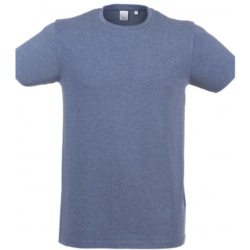 Skinnifit Men Feel Good Stretch T-Shirt HeatherNavy