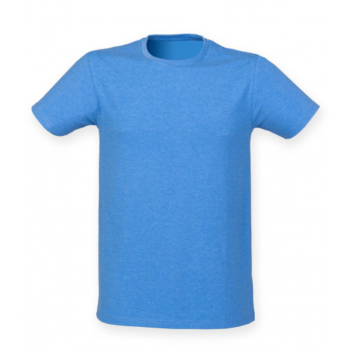 Skinnifit Men Feel Good Stretch T-Shirt HeatherBlue